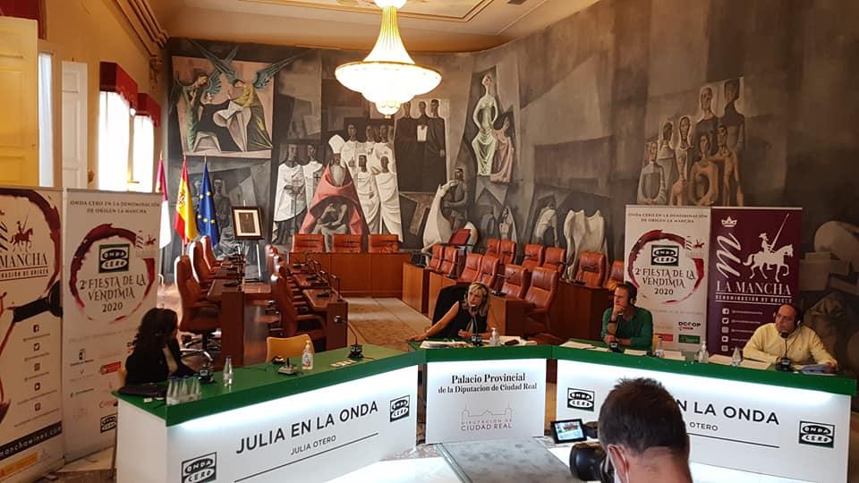 Julia Otero en la Diputación de Ciudad Real