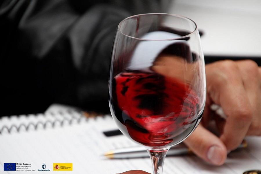 Copa de vino tinto DO La Mancha