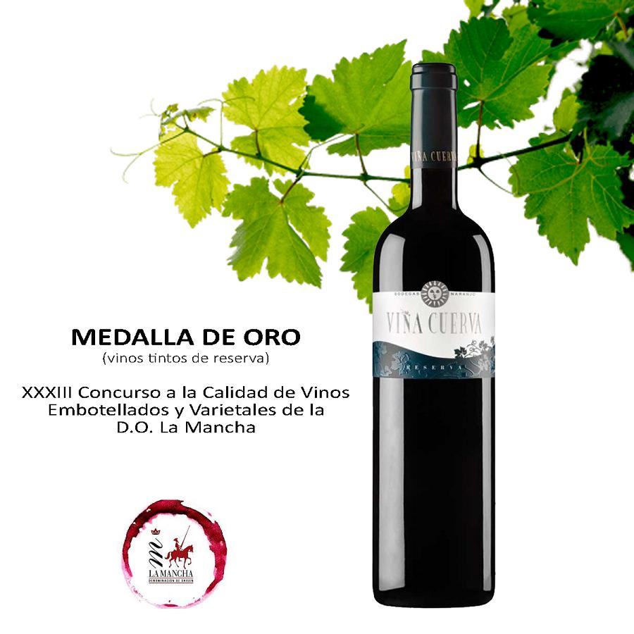 Viña Cuerva Reserva, Medalla de oro en los Premios a la Calidad CRDO La Mancha 2020