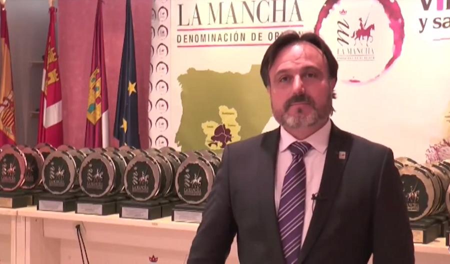 El presidente de la DO La Mancha, Carlos David Bonilla, en su intervención en los XXXIV Premios a la Calidad