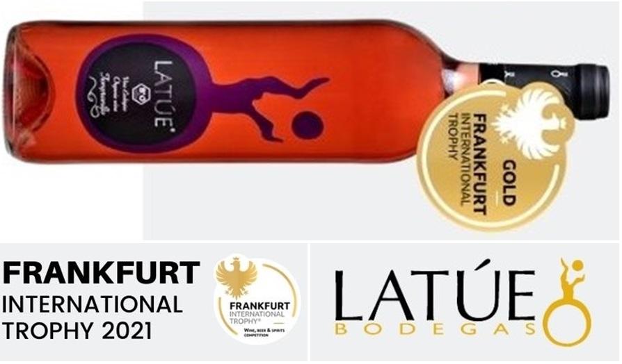 Latúe Tempranillo Rosado 2020, Medalla de Oro en el Frankfurt International Trophy