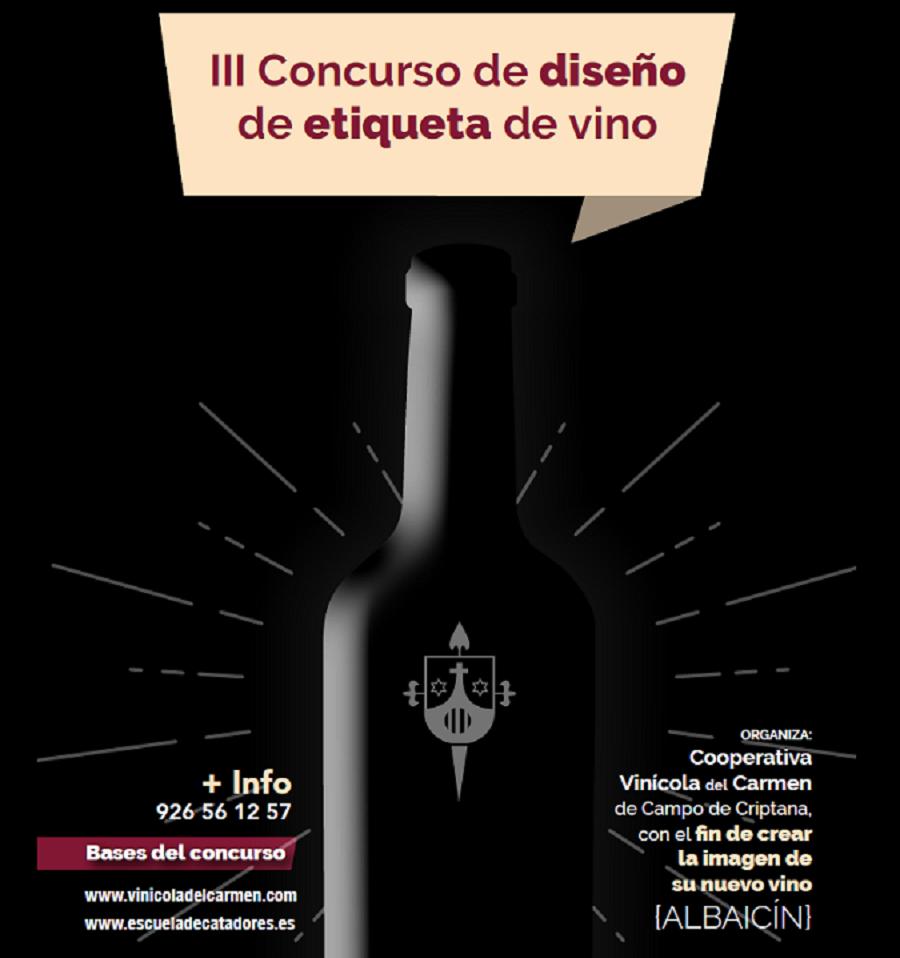 Cartel III edición Concurso de Etiquetas Coop. Vinícola del Carmen
