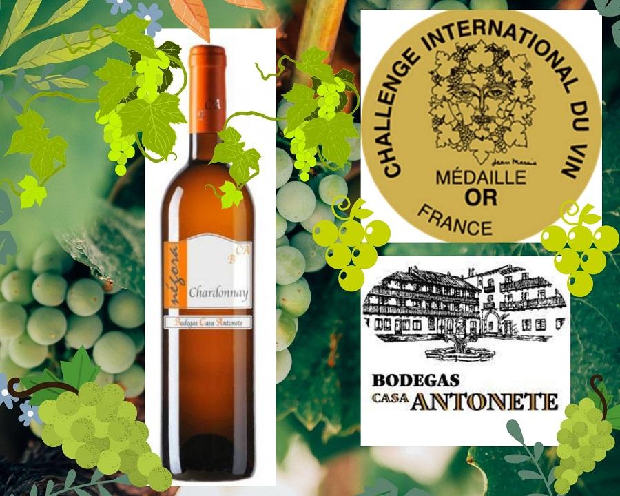 Négora Chardonnay, Medalla de Oro en el Challenge International du Vin 2021