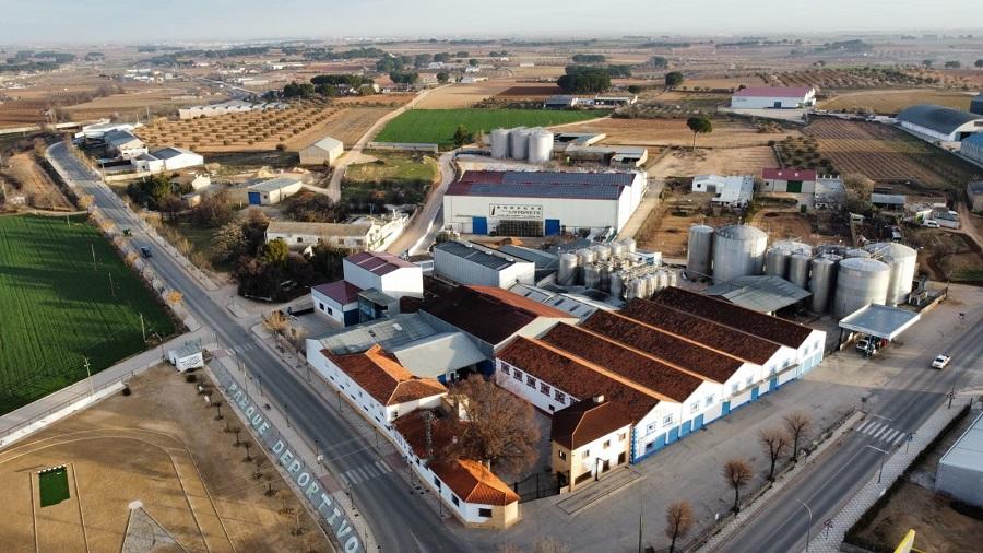 Vista aérea de Bodegas Casa Antonete (Tarazona de La Mancha, Albacete)