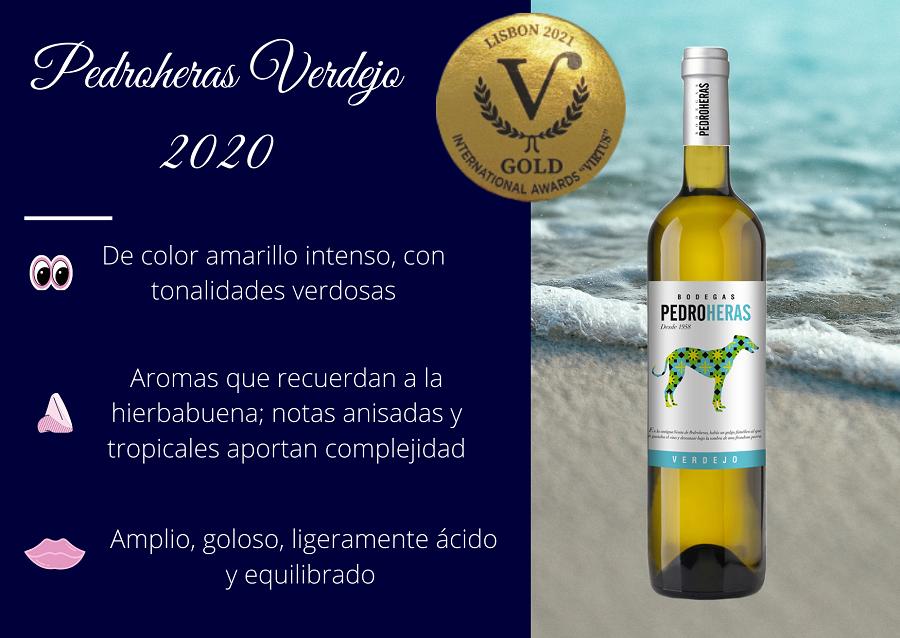 Pedroheras Verdejo 2020, Medalla de Oro en el International Awards Virtus