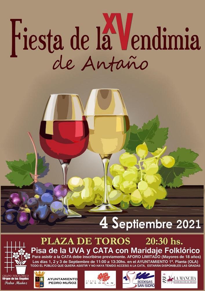 Cartel de la XV Fiesta de la Vendimia de Antaño en Pedro Muñoz