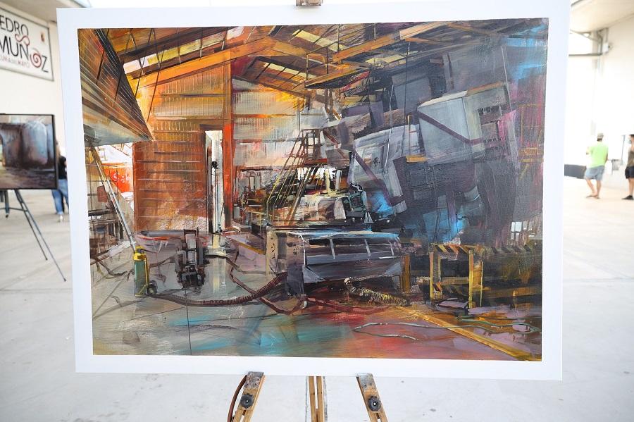 'Interior de la Bodega'. del artista Blai Tomás, primer premio del II Concurso de Pintura Rápida 'Vinos de La Mancha'