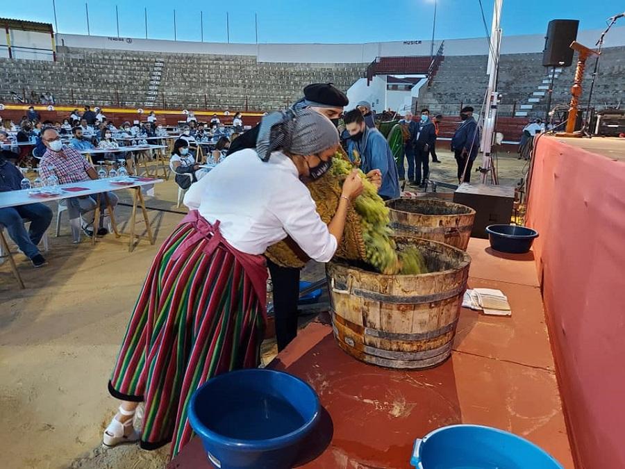 Preparados para la tradicional pisa de la uva en Pedro Muñoz
